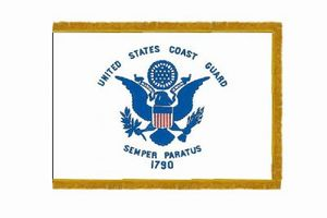 Perma-Nyl 3'x5' Nylon Indoor Coast Guard Flag