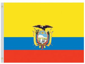 Perma-Nyl 2'x3' Nylon Ecuador Government Flag