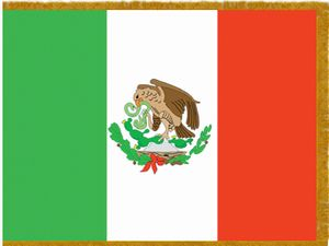 Perma-Nyl 3'x5' Nylon Indoor Mexico Flag