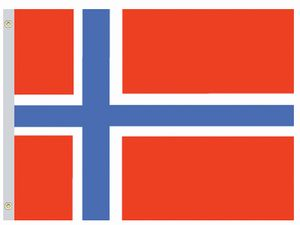 Perma-Nyl 2'x3' Nylon Norway Flag