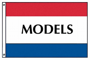3'x5' Polyester MODELS Flag