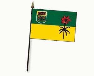 Valprin 4x6 Inch Saskatchewan Stick Flag  ( 12 pack )