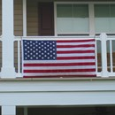 U.S. Flag Balcony Mounting Kit - Polycotton