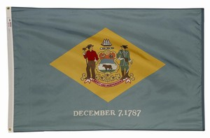 Perma-Nyl 3'x5' Delaware Flag - Retail Packaging