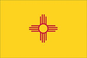 Valprin 4x6 Inch New Mexico Stick Flag ( 12 pack )