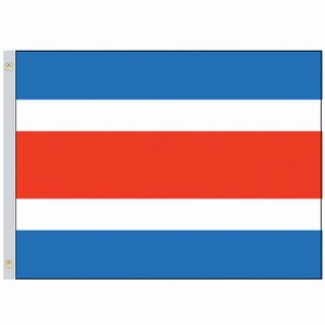 Perma-Nyl 3'x5' Nylon Costa Rica Civil Flag