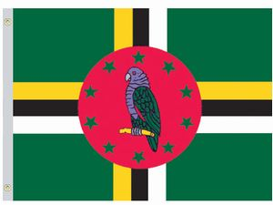 Valprin 4x6 Inch Dominica Stick Flag ( 12 pack )
