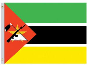 Valprin 4x6 Inch Mozambique Stick Flag ( 12 pack )