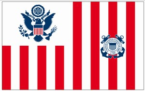 Perma-Nyl 60x96 Inch Nylon U.S. Coast Guard Ensign