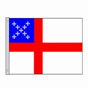 Perma-Nyl 2'x3' Nylon Outdoor Episcopal Flag