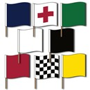 Motorcycle Racing Flag Set--Poles Included